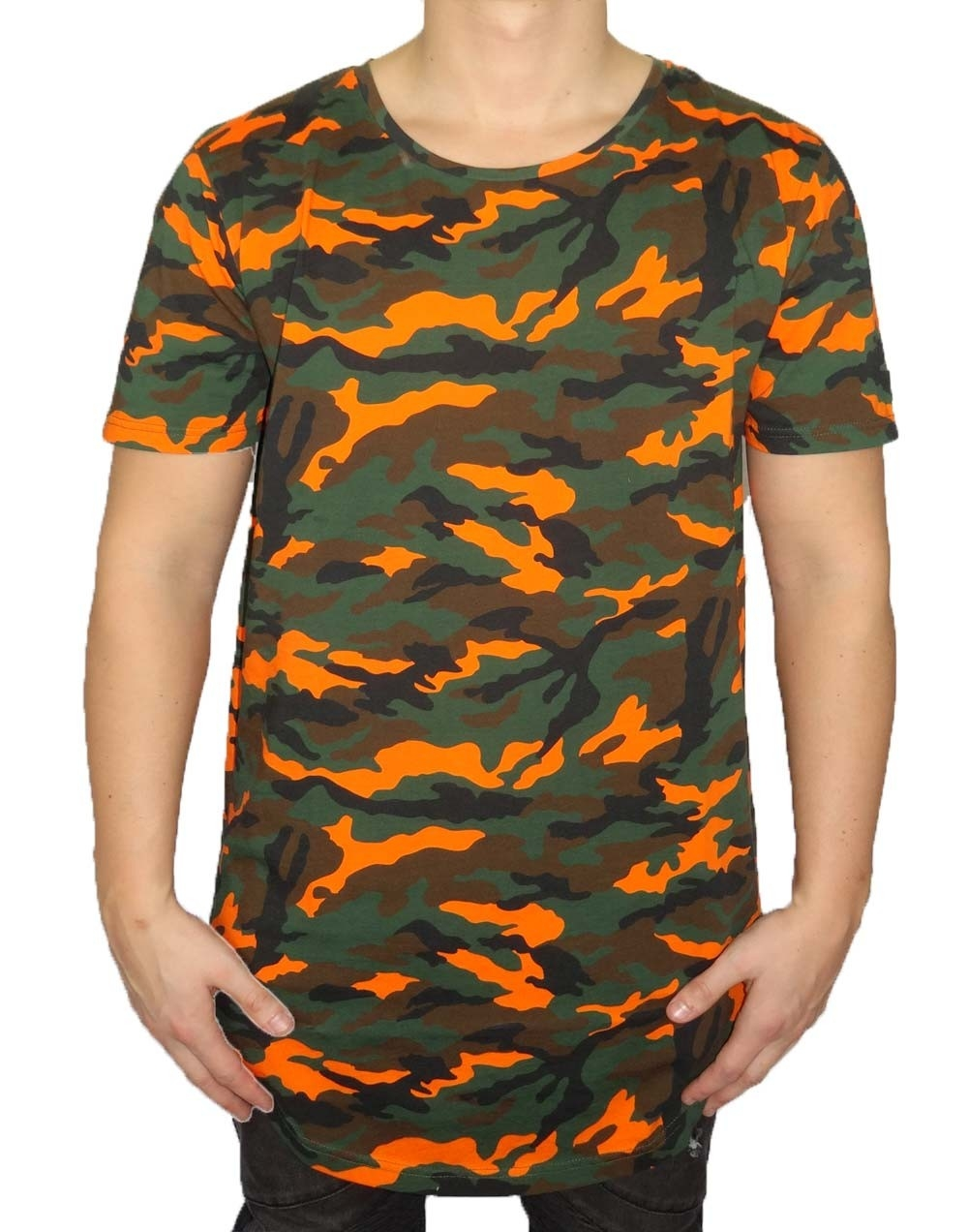 masko t shirt herren camouflage orange black kaviar. Black Bedroom Furniture Sets. Home Design Ideas