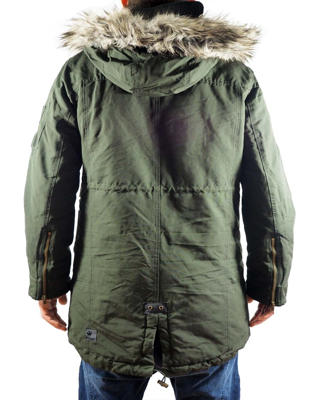 dock winterjacke parka herren olive gr n khujo. Black Bedroom Furniture Sets. Home Design Ideas