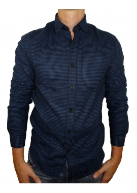 CHECKED - Hemd Herren - dunkel blau - Shine Original