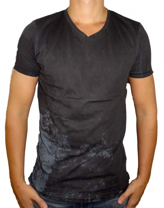 RAW OIL - T-Shirt Herren - washed schwarz - Shine Original