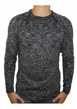 SALT N PEPPER - Strickpullover Herren - schwarz / weiß - Shine Original
