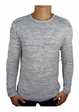 EDIT - Strickpullover Herren - grau - Solid