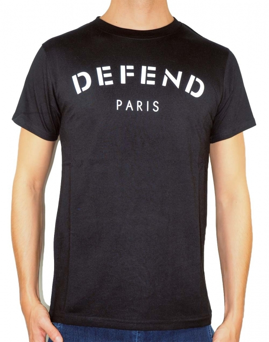 DEFEND - T-Shirt Herren - schwarz - Defend Paris