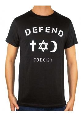 COEXIST - T-Shirt Herren - schwarz - Defend Paris