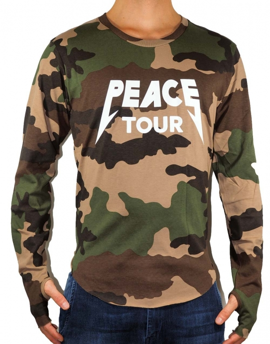 PEACE TOUR - Longsleeve Herren - camouflage / camou - Defend Paris