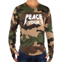 PEACE TOUR - Longsleeve - camou - Defend Paris