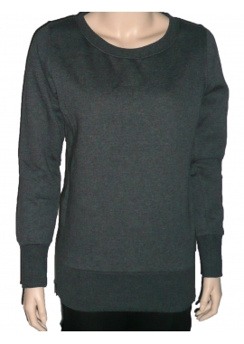 SIDE ZIP - Damen Sweatshirt - dunkel grau - Urban Classic