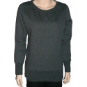 SIDE ZIP - Damen Sweatshirt - dunkelgrau - Urban Classic