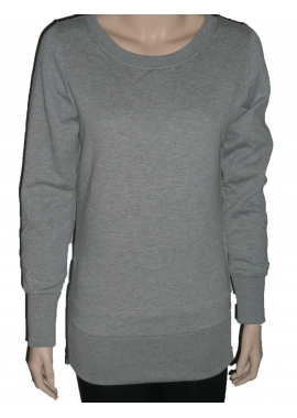 SIDE ZIP - Damen Sweatshirt - grau - Urban Classic