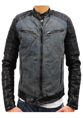 ANDY DENIM - Lederjacke - indigo - Be Edgy