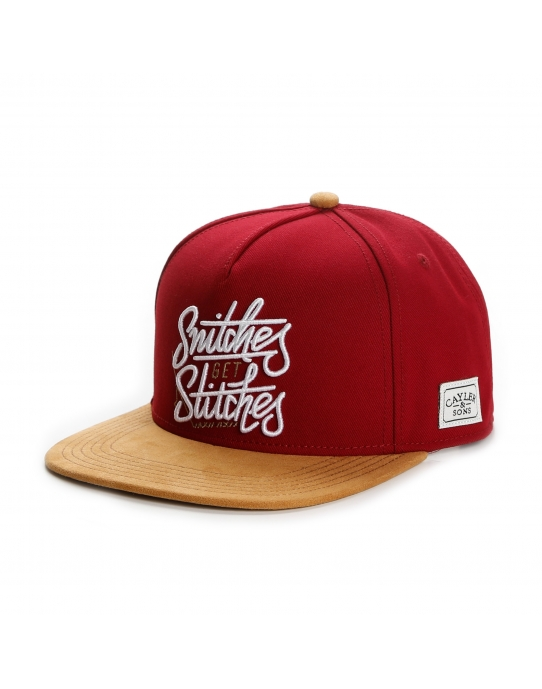 GET STITCHES - Snapback Cap - rot - Cayler & Sons