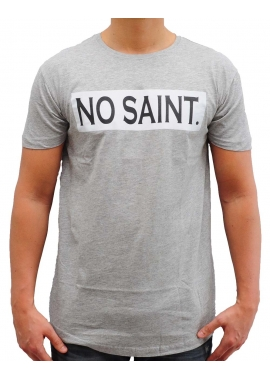 LOGO TEE - T-Shirt - grau - No Saint