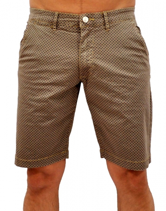 CHINO PRINT - Shorts- beige - RAW Recycled Art World