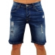 DENIM ROUGH - Shorts Jeans - blau - RAW Recycled Art World