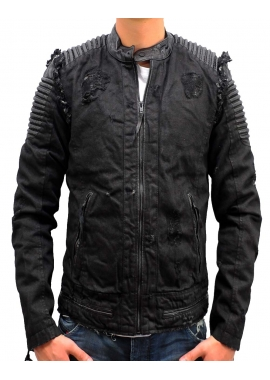 DINO DENIM - Lederjacke - schwarz - Be Edgy