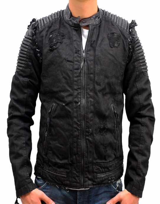 DINO DENIM Lederjacke schwarz Be Edgy