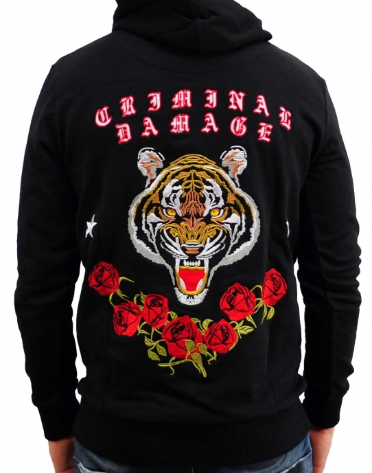 WILD CAT - Hoodie - schwarz - Criminal Damage