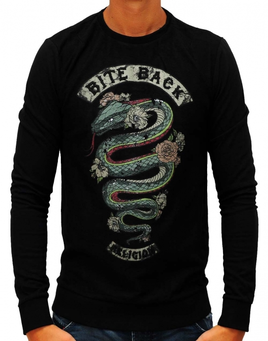 BITE BACK - Sweatshirt - schwarz - Religion - NEU
