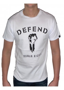 HUMAN RIGHTS - T-Shirt Herren - weiß - Defend