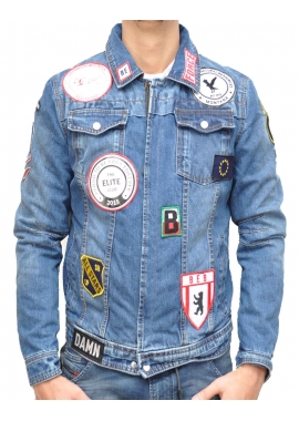 RAVE DENIM PATCH - Jeansjacke - indigo - Be Edgy