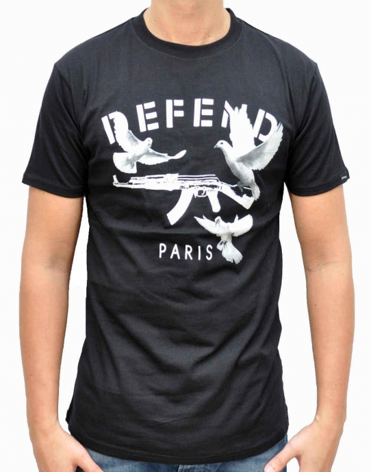ENGELS - T-Shirt - schwarz - Defend Paris