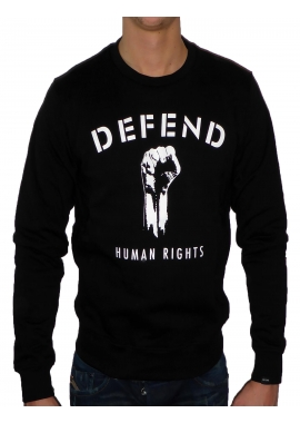 HUMAN RIGHTS - Sweatshirt Herren - schwarz - Defend Paris