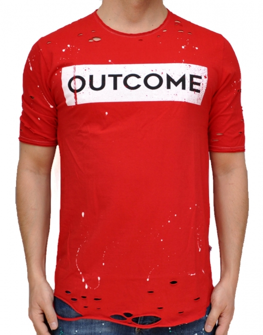 OUTCOME - T-Shirt - rot - Gianni Lupo