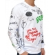 GRAFFITI - Sweater -  weiß - Gianni Lupo