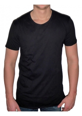 BASIC LONG TEE - Herren T-Shirt - schwarz - Fame on you Paris