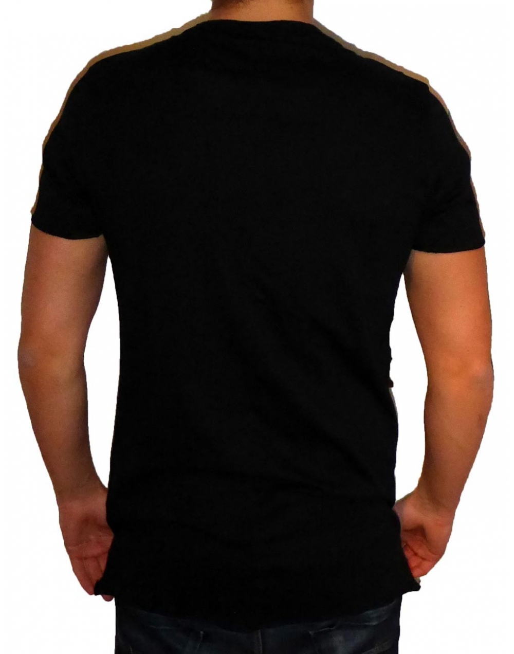 basic long tee herren t shirt schwarz fame on you paris. Black Bedroom Furniture Sets. Home Design Ideas