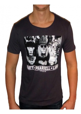 JUNGLE FASHION - Herren T-Shirt - anthrazit / grau - Fame on you Paris