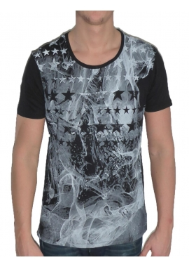 SMOKING STAR - Herren T-Shirt - schwarz - Fame on you Paris