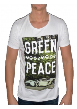 GREEN PEACE - Herren T-Shirt - weiß - Fame on you Paris
