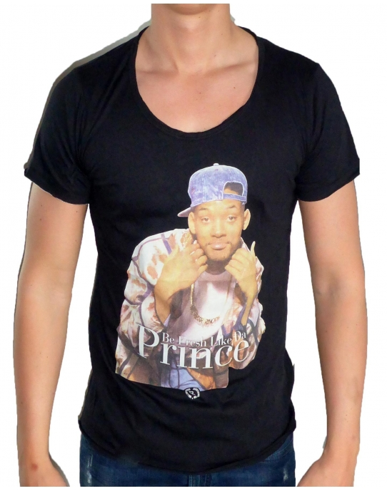 FRESHY PRINCE OF BEL AIR - T-Shirt Herren - schwarz - Boom Bap