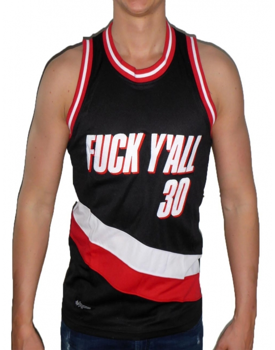 FUCK YOU ALL MESH - Herren Tank Top - schwarz / rot - K1X
