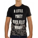 A LITTLE PARTY - Herren T-Shirt - schwarz - Fame on you Paris