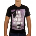 CHAMPAGNE DIET - Herren T-Shirt - schwarz - Fame on you Paris