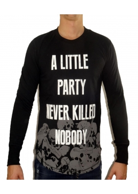 A LITTLE PARTY - Herren Sweatshirt - schwarz - Fame on you Paris