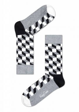 FILLED OPTIC SOCK - Socken Herren - grau - Happy Socks