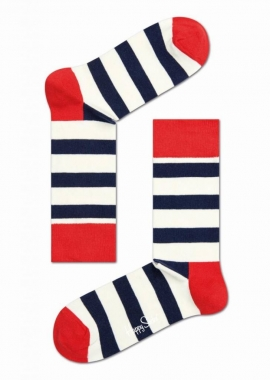 STRIPE SOCK - Socken Herren - rot / blau - Happy Socks