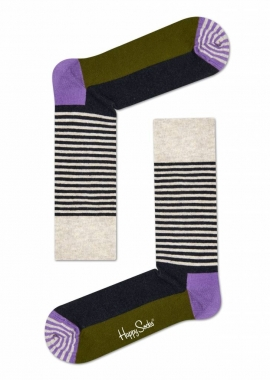 HALF STRIPE SOCK - Socken Herren - beige - Happy Socks