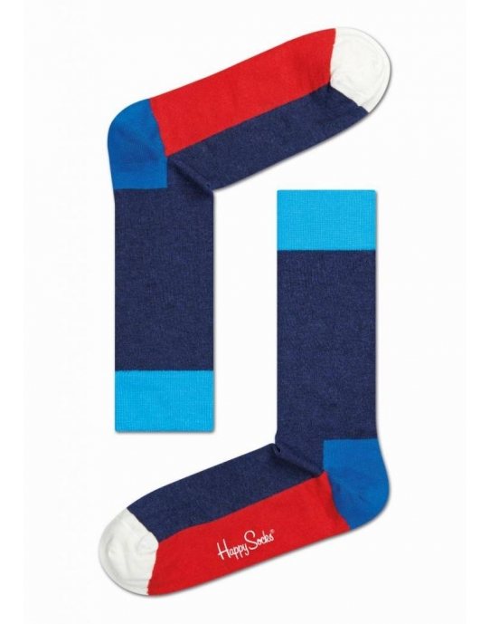 FIVE COLOUR SOCK - Socken Herren - blau / rot - Happy Socks