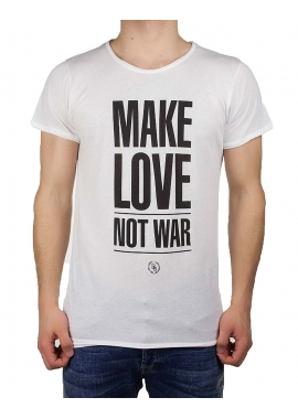 MAKE LOVE NOT WAR - T-Shirt Herren - weiß - Boom Bap