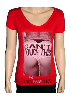CAN´T - T-Shirt Damen - rot - Boom Bap