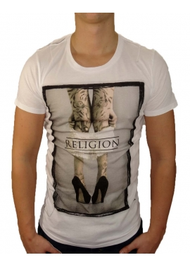 PULL THEM DOWN - T-Shirt Herren - weiß - Religion