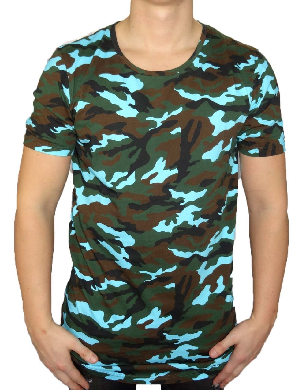 masko t shirt herren camouflage blau black kaviar. Black Bedroom Furniture Sets. Home Design Ideas
